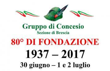 80° Anniversario di fondazione del Gruppo Alpino di Concesio - 1 luglio