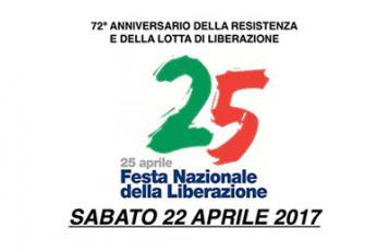 Celebrazioni Festa Nazionale della liberazione 22 aprile